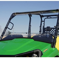 "Full Length ""Aero-Vent"" 1/4"" Lexan Windshield for John Deere XUV 550 and 550 S4"